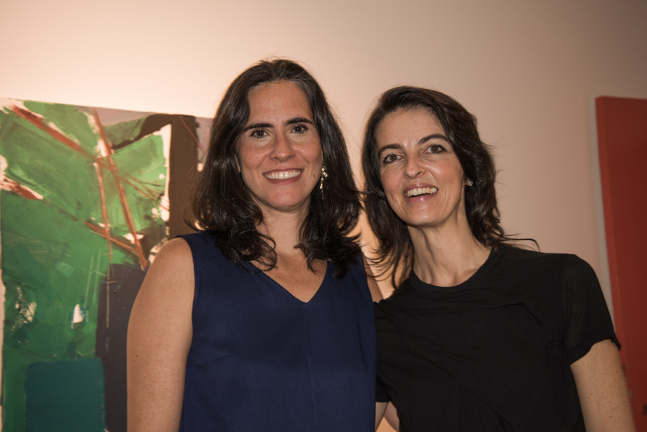 Janaina Torres with Renata at the Solo Opening