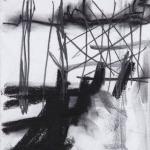 Sem título - 2013 - grafite e carvão sobre papel - 30 x 21 cm