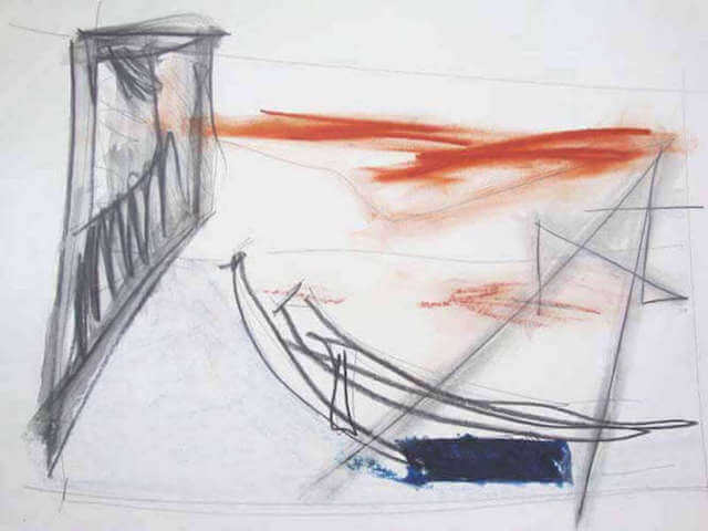 Untitled - 2014 - charcoal, sanguine, graphite, chalk and oil pastels - 29.7 x 42 cm