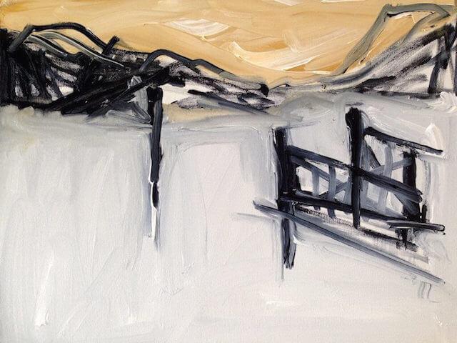 Untitled - 2014 - acrylic on canvas - 40 x 50 cm