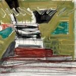 Sem título - 2016 - acrílica, grafite, giz, pastel e carvão sobre papel - 25 x 40 cm