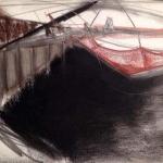 Sem título - 2014 - grafite, carvão, sanguínea e pastel sobre papel - 29,8 x 41,8 cm
