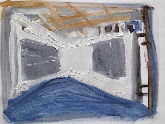 Untitled - 2014 - acrylic on canvas - 34 x 45 cm
