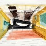 Sem título - 2016 - giz, acrílica, grafite, carvão e pastel sobre papel - 25 x 40 cm