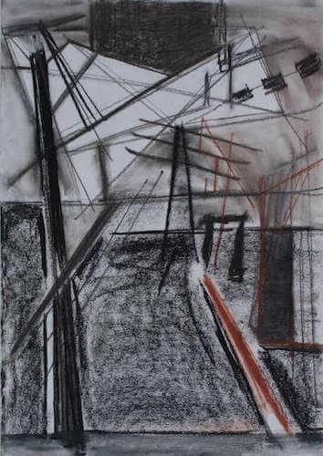 Sem título - 2014 - grafite, carvão e pastel seco sobre papel - 72 x 51 cm