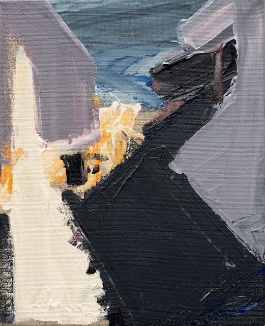 Untitled - 2016 - acrylic on linen - 27,5 x 23 cm