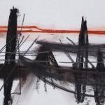 Sem título - 2013 - grafite, carvão e sanguínea sobre papel - 21 x 30 cm