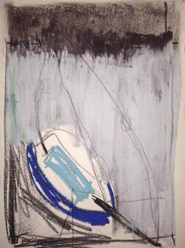 Sem título - 2014 - grafite, carvão, giz e pastel sobre papel - 24 x 32,8 cm