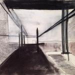Sem título - 2014 - grafite, carvão sobre papel - 31 x 40,8 cm