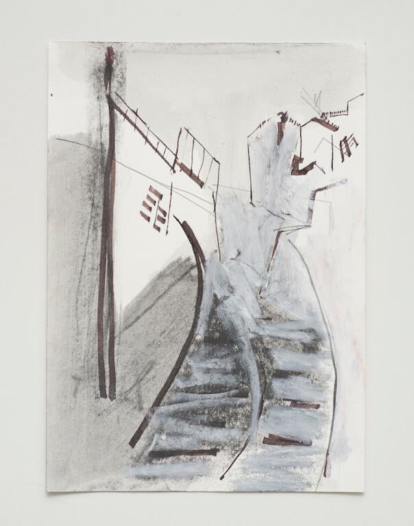 Sem título - 2017 - nanquim, giz e grafite sobre papel - 21 x 14,8 cm