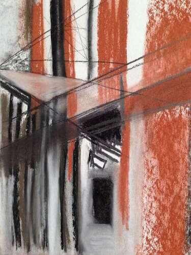 Sem título - 2014 - grafite, carvão e sanguínea sobre papel - 31,5 x 24 cm