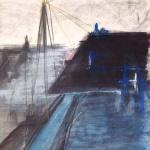 Sem título - 2015 - grafite, carvão, acrílica e pastel sobre papel - 42 x 61 cm