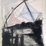 Sem título - 2015 - grafite, carvão e pastel sobre papel - 76 x 57 cm