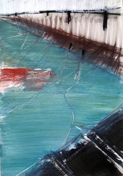 Sem título - 2015 - acrílica, pastel, giz, grafite, sanguínea e carvão sobre papel - 59,4 x 42 cm