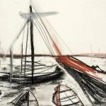 Sem título - 2014 - carvão, sanguínea, grafite sobre papel