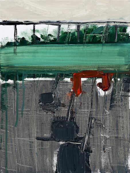 Untitled - 2015 - acrylic on linen - 42,5 x 33,3 cm