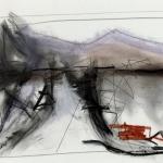 Sem título - 2014 - carvão, sanguínea, grafite, giz e pastel sobre papel