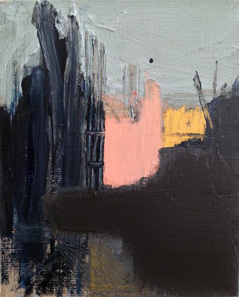 Untitled - 2016 - acrylic on linen - 27,5 x 22,5 cm
