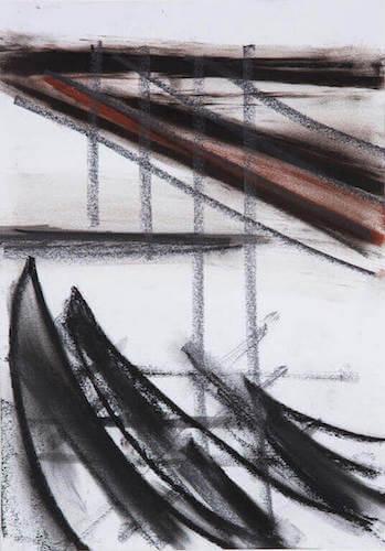 Sem título - 2013 - grafite, carvão e sanguinea sobre papel - 30 x 21 cm