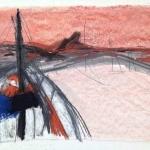 Sem título - 2015 - grafite, carvão, sanguínea, giz e pastel sobre papel - 29,8 x 40 cm