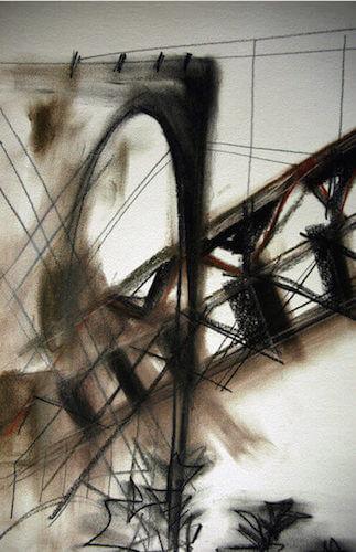 Sem título - 2014 - grafite, carvão, sanguínea e giz sobre papel - 42 x 29 cm