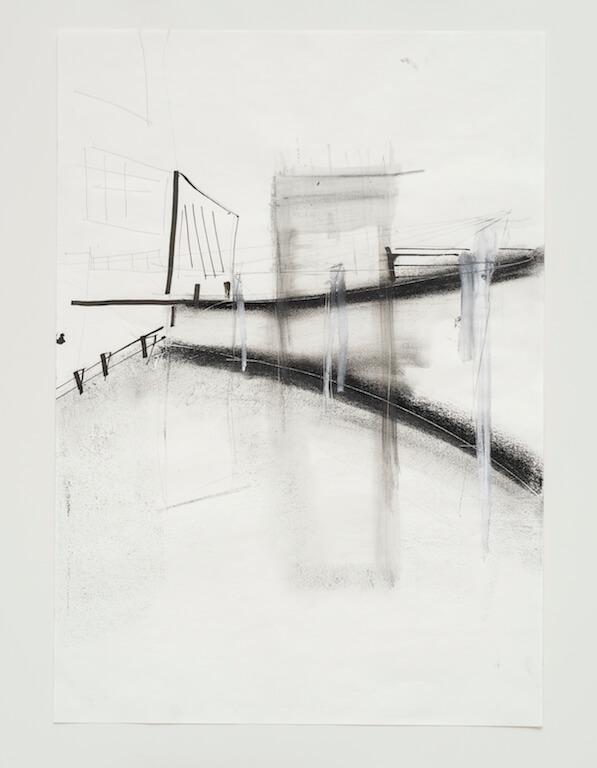 Sem título - 2017 - grafite, carvão, nanquim e giz sobre papel - 42 x 29,7 cm