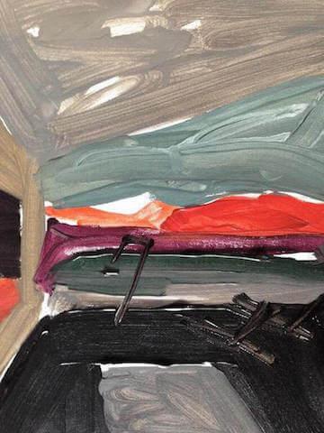 Untitled - 2014 - acrylic on canvas - 39 x 29 cm