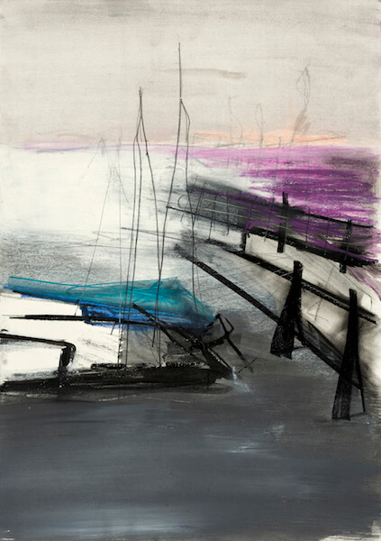 Sem título - 2015 - acrílica, pastel, giz, grafite e carvão sobre papel - 59,4 x 42 cm