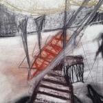 Sem título - 2014 - carvão, sanguínea, grafite, giz e pastel oleoso sobre papel - 41,8 x 59 cm