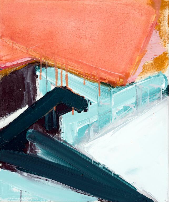 Untitled - 2016 - acrylic on canvas - 60 x 50 x 3 cm