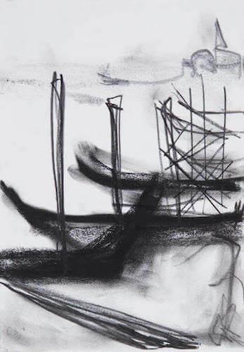 Sem título - 2013 - grafite e carvão sobre papel - 30 x 21cm