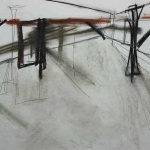 Sem título - 2014 - grafite, carvão, sanguínea e giz oleoso sobre papel - 28 x 35 cm