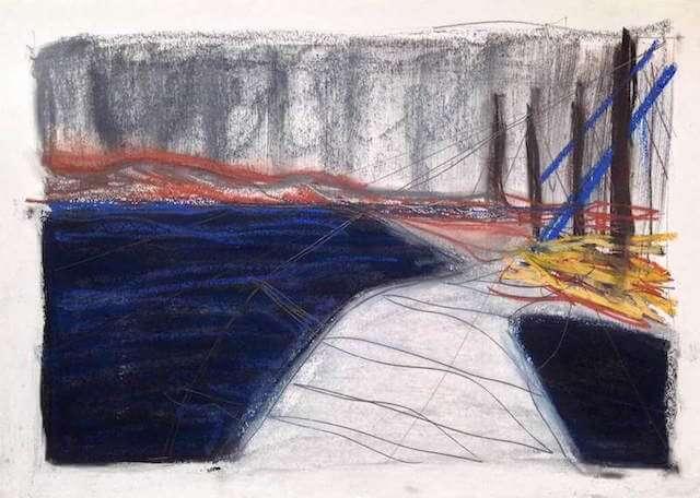 Sem título - 2015 - grafite, carvão, sanguínea e pastel sobre papel - 42 x 61 cm