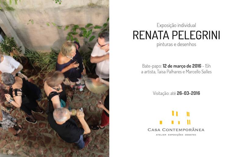 E-flyer - Talk Renata Pelegrini, Casa Contemporânea
