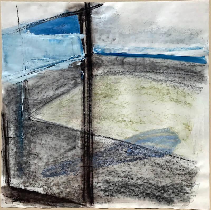 Sem título - 2018 - acrílica, grafite, carvão e giz sobre papel - 50 x 50 cm