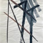 Sem título - 2018 - acrílica, grafite e giz sobre papel - 59,4 x 42 cm
