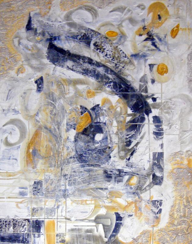 Sem título - 2010 - acrílica, e nanquim sobre tela - 100 x 80 cm