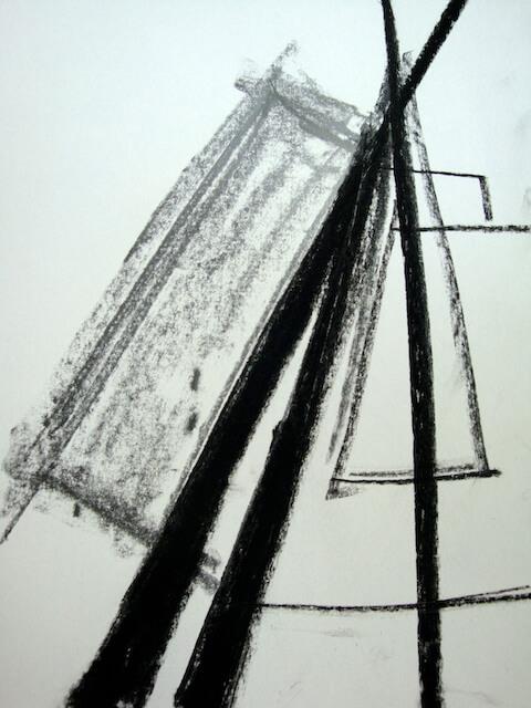 Sem título - 2013 - carvão e grafite sobre papel - 21 x 14 cm