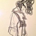 Sem título - 2015 - grafite e giz sobre papel