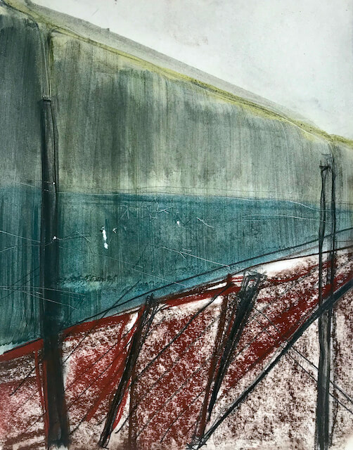 Sem título - 2015 - grafite, carvão, giz, sanguínea sobre papel - 27 x 35 cm