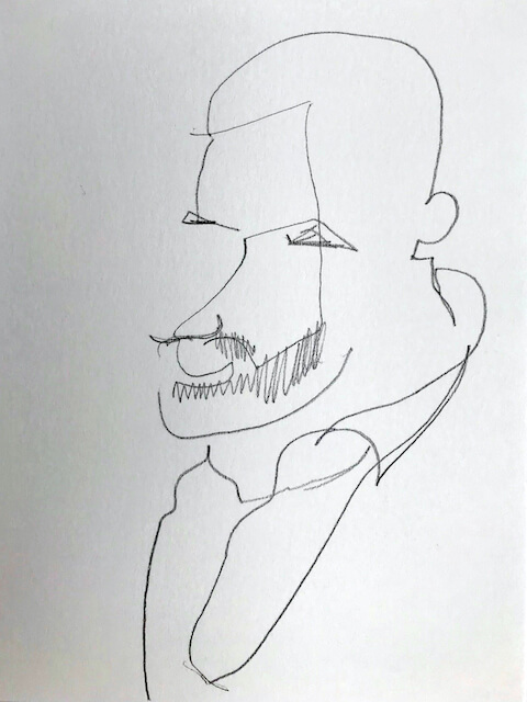 Sem título - 2018 - grafite sobre papel - 20 x 14 cm