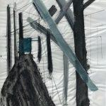 Sem título - 2017 - acrílica, grafite e carvão sobre papel - 59 x 42 cm