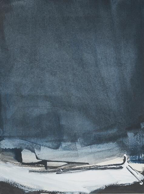 Sem título - 2018 - acrílica, nanquim e giz sobre tela - 29 x 21 cm