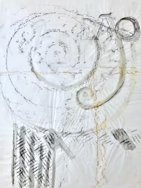 Sem título - 2018 - carvão, grafite e giz sobre papel - 59 x 42 cm