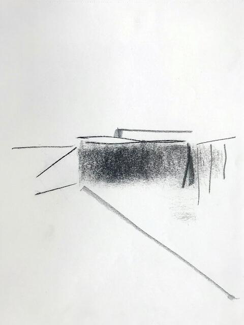 Sem título - 2018 - grafite e carvão sobre papel - 28 x 22 cm