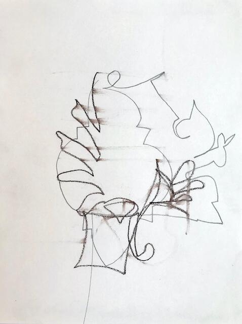 Sem título - 2018 - grafite e giz sobre papel - 19 x 14 cm