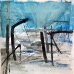 Sem título - 2019 - acrílica, grafite, giz e nanquim sobre papel - 100 x 100 cm