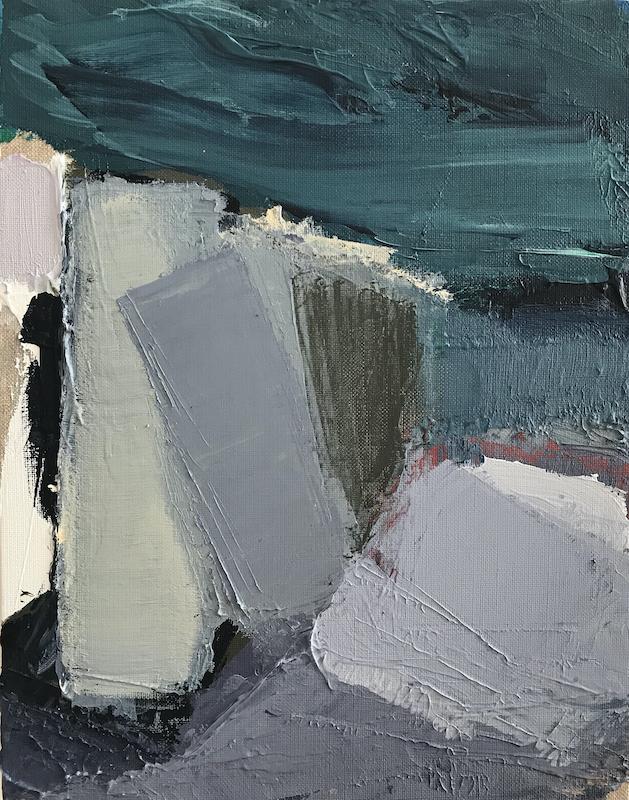 Untitled - 2019 - acrylic on linen - 44 x 34 cm